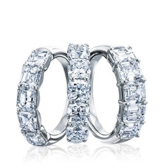 Diamond anniversary rings in Palm Desert, California on El Paseo