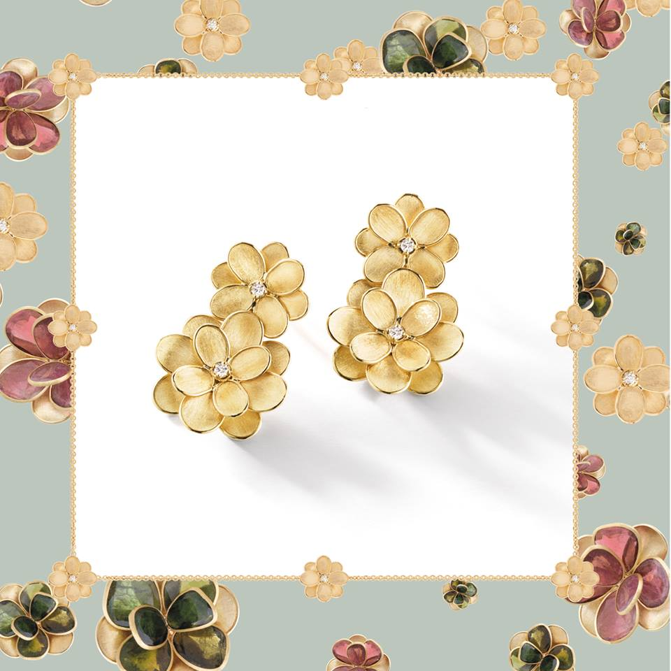 Gold earrings by Marco Bicego in Palm Desert, California on El Paseo