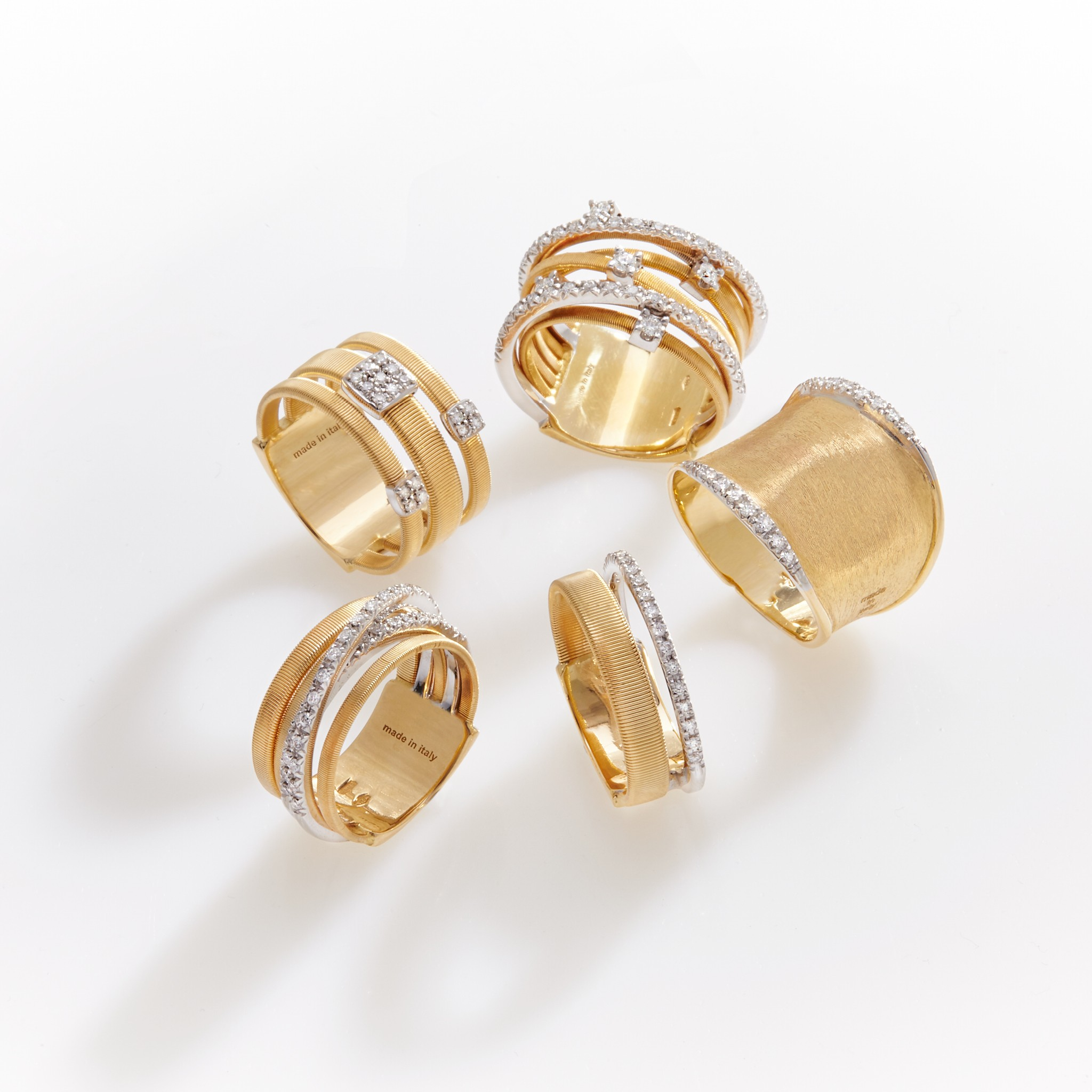 Marco Bicego gold rings on El Paseo in Palm Desert, California