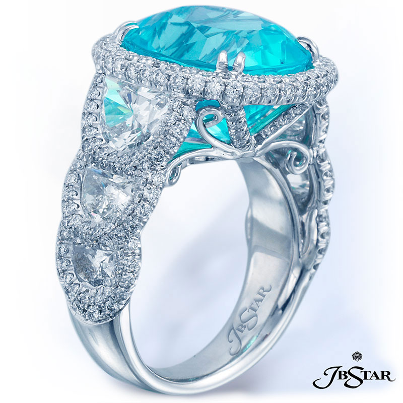 Paraiba and diamond ring jewelry on El Paseo in Palm Desert