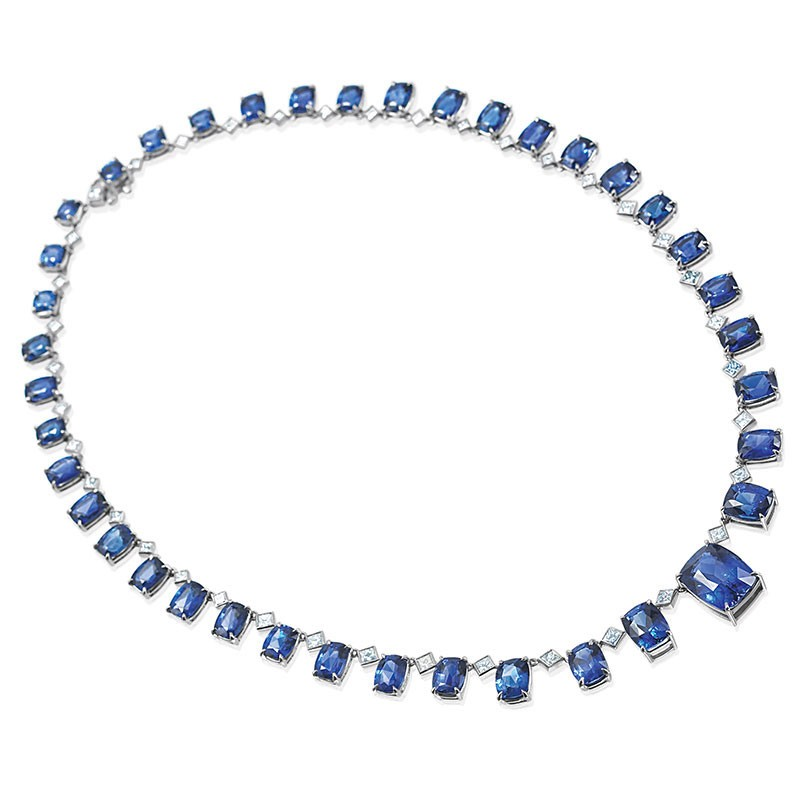 Sapphire and diamond necklace in Palm Springs area