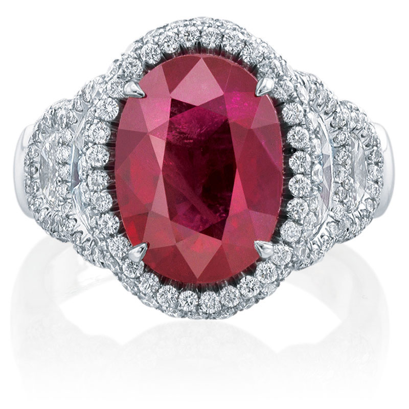 Ruby and diamond ring in Palm Desert on El Paseo