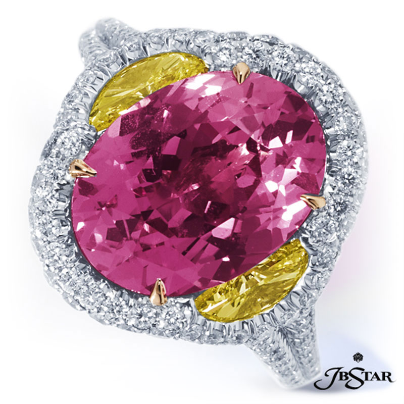 pink sapphire, yellow and white diamonds in La Quinta area