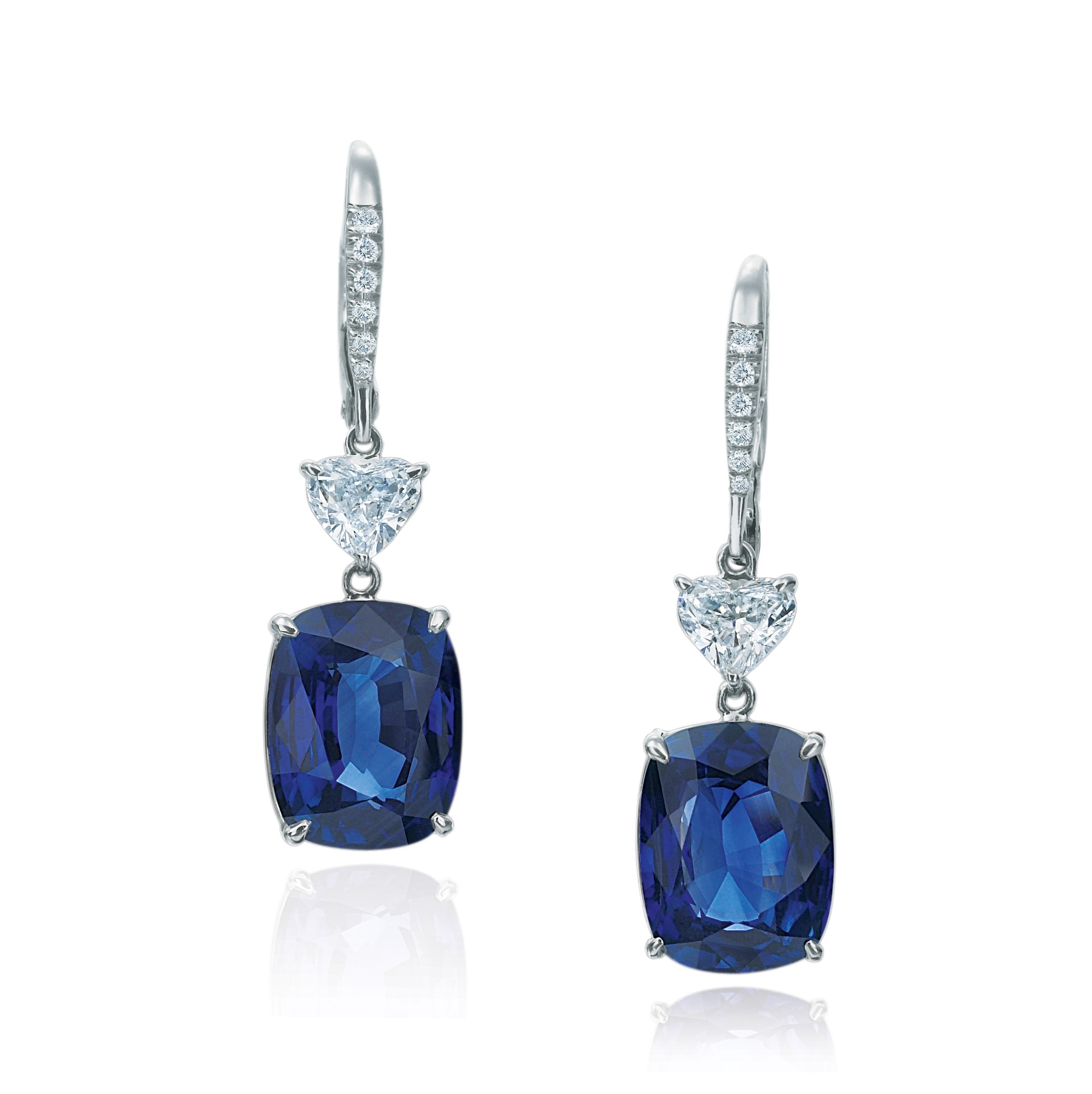 Sapphire and diamond earrings in Palm Desert on El Paseo