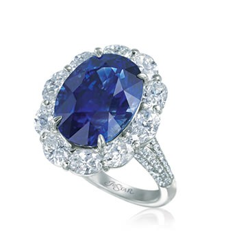 Sapphire and diamond ring on El Paseo in Palm Desert