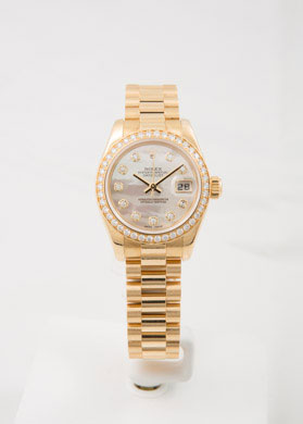 PreOwned ROLEX Datejust 26mm Yellow Gold MOP
