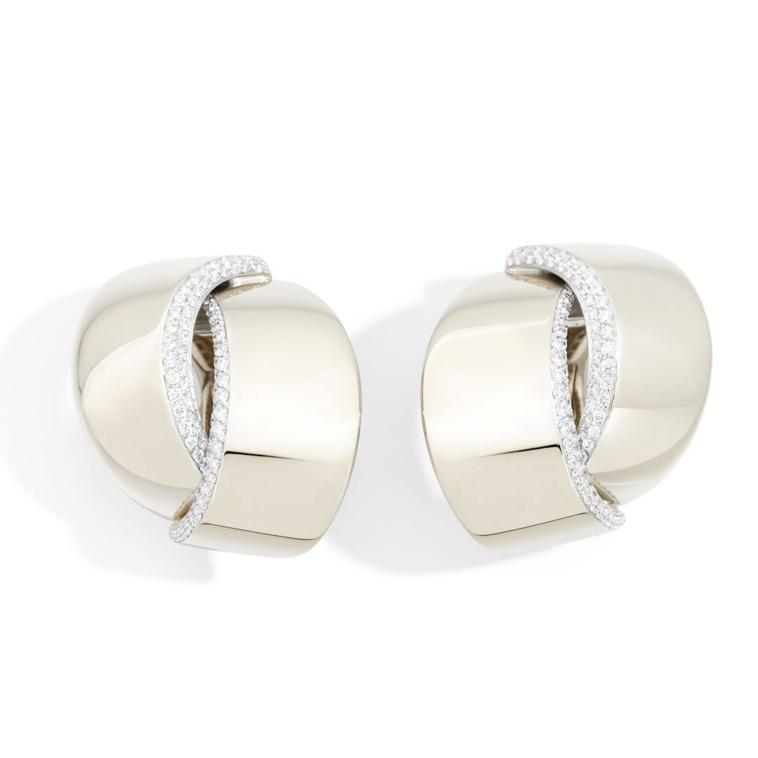 White gold earrings in Palm Desert on El Paseo by Vhernier