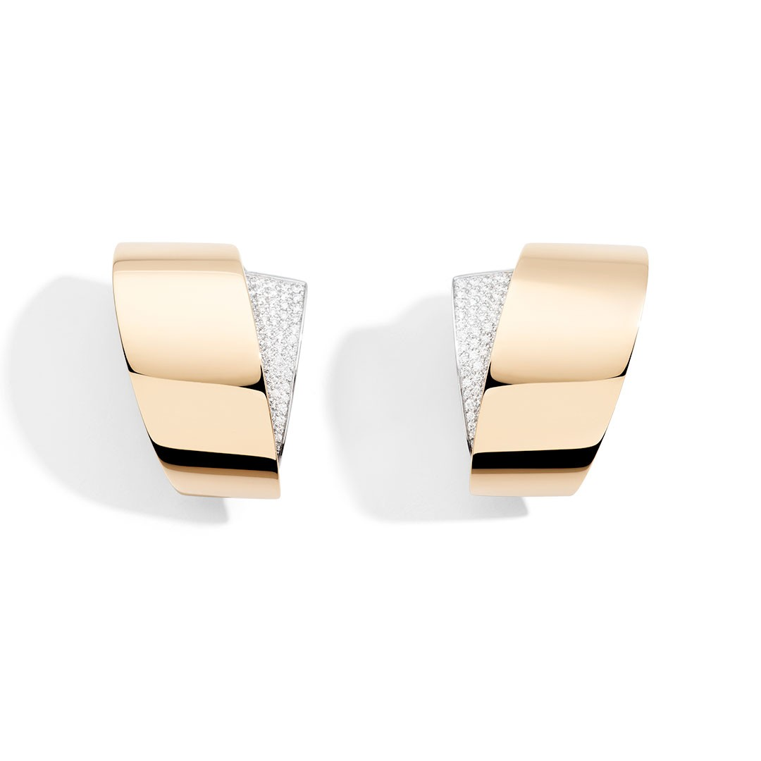 Rose gold earrings by Vhernier in Palm Desert on El Paseo